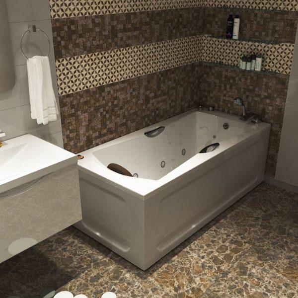 Акриловая ванна 1MarKa Agora 170х75 без гидромассажа изображена на фото