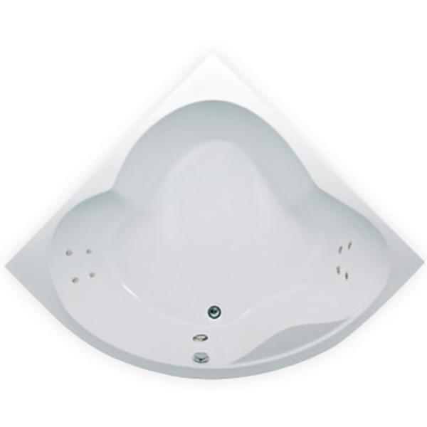 Акриловая ванна 1MarKa Cassandra 140х140 без гидромассажа в интерьере.