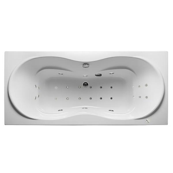 Акриловая ванна 1MarKa Dinamica 180х80 без гидромассажа в ванной комнате.