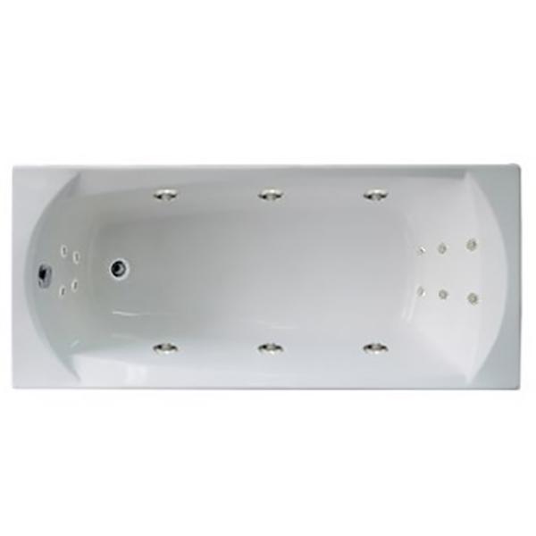 Акриловая ванна 1MarKa Elegance 170х70 без гидромассажа в интерьере.