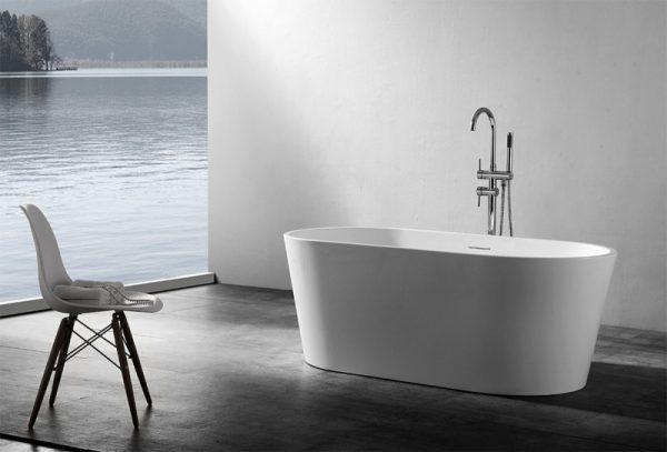 Акриловая ванна Abber AB9203-1.5 150х80 без гидромассажа изображена на фото