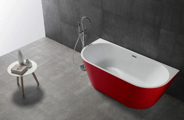 Акриловая ванна Abber AB9216-1.7R 170х80 без гидромассажа в интерьере.