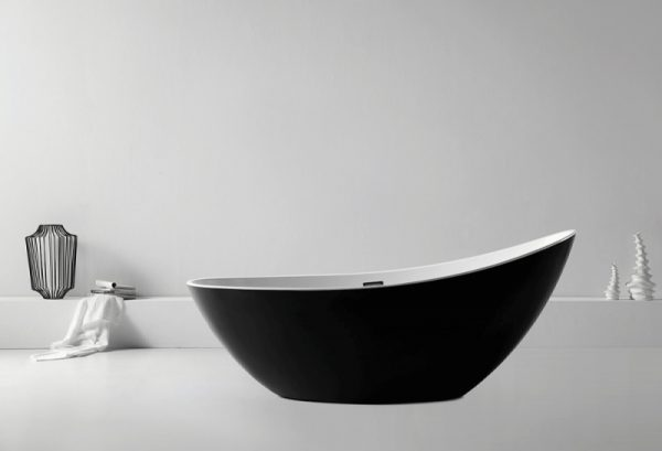 Акриловая ванна Abber AB9233B 184х79 без гидромассажа изображена на фото