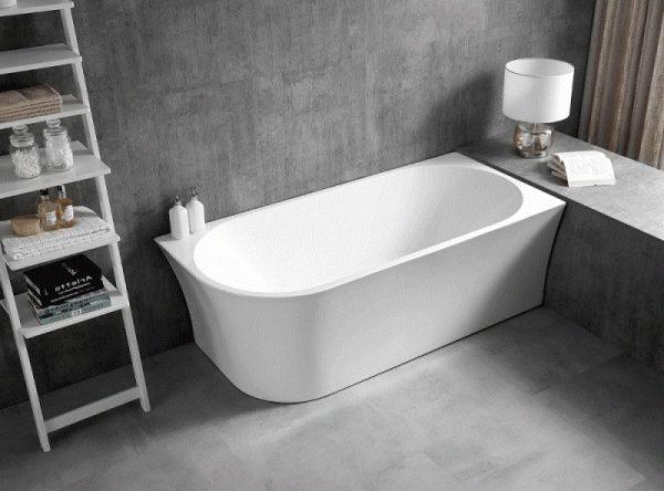 Акриловая ванна Abber AB9257-1.7 R 170х78 без гидромассажа изображена на фото