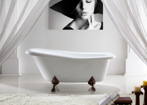 Акриловая ванна Abber AB9292 172х82 без гидромассажа изображена на фото