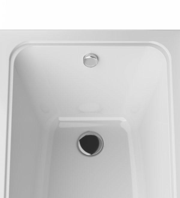 Акриловая ванна AM.PM Gem 160х70 W90A-160-070W-A без гидромассажа в ванной комнате.