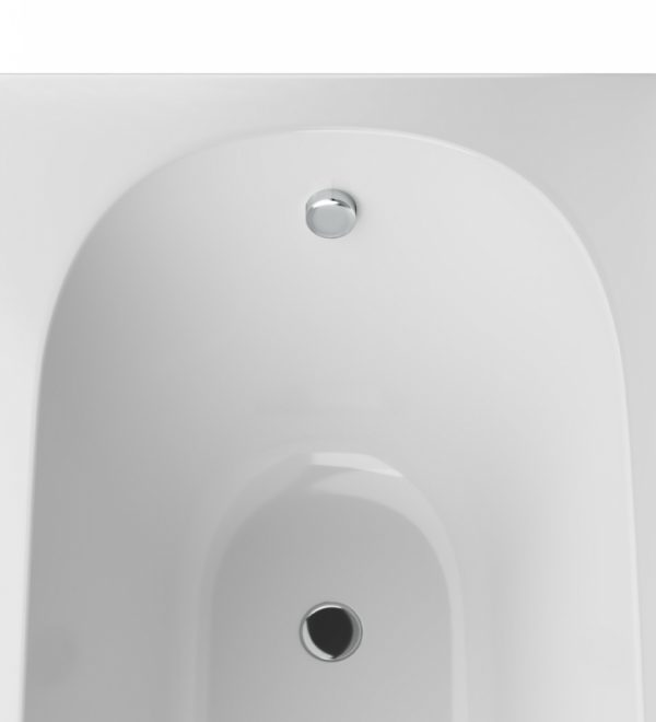 Акриловая ванна AM.PM Inspire 170х75 без гидромассажа в ванной комнате.