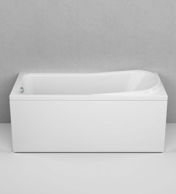 Акриловая ванна AM.PM Like 150х70 без гидромассажа в интерьере.