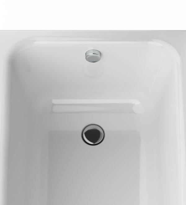 Акриловая ванна AM.PM Like 150х70 без гидромассажа в ванной комнате.