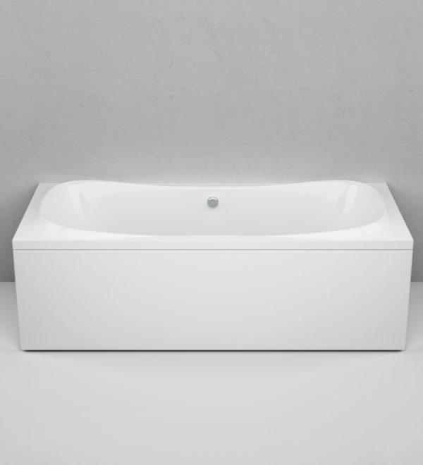 Акриловая ванна AM.PM Sensation 180х80х68 без гидромассажа в интерьере.