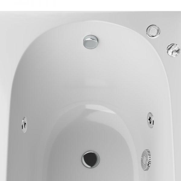 Акриловая ванна AM.PM Spirit Evo 150х70 с гидромассажем в интерьере.