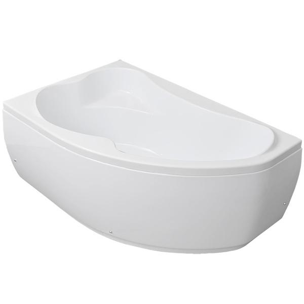Акриловая ванна Aquanet Capri 160х100 без гидромассажа L изображена на фото