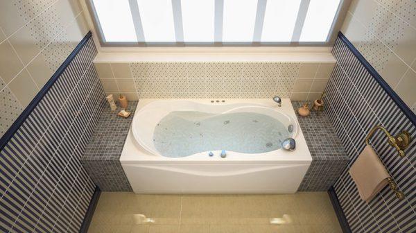 Акриловая ванна Aquanet Grenada 180х80 без гидромассажа в ванной комнате.