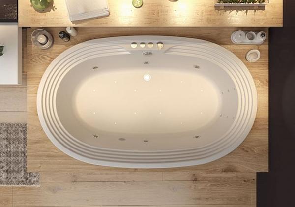 Акриловая ванна Aquanet Mishel 190х115 без гидромассажа в ванной комнате.