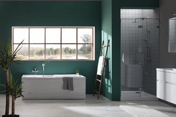 Акриловая ванна Aquanet Polo 170х80 без гидромассажа в ванной комнате.