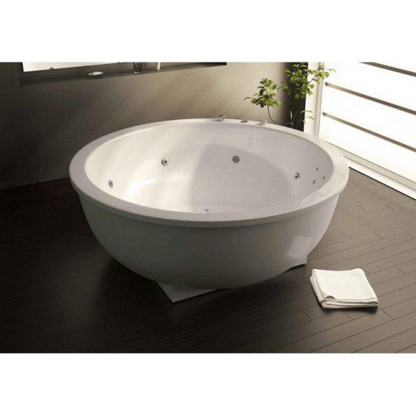 Акриловая ванна Astra Form Олимп 181х181 без гидромассажа в интерьере.