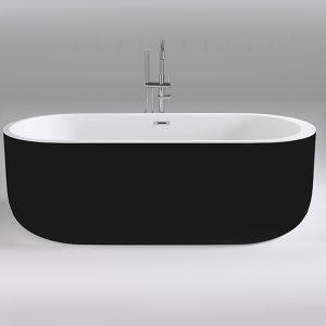 Фото товара Акриловая ванна Black&White Black Swan 170х80 SB109 Black без гидромассажа.