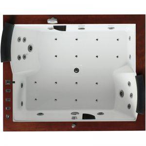 Фото товара Акриловая ванна Gemy G9052-II O 186х151 L с гидромассажем.