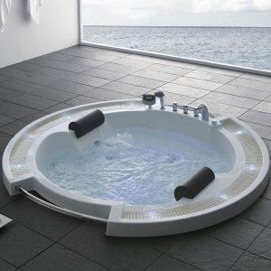 Фото товара Акриловая ванна Gemy G9060 O 210х210 с гидромассажем.