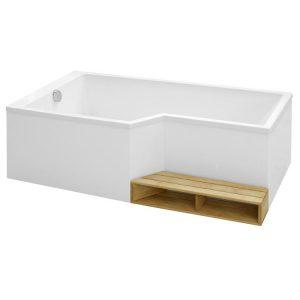 Фото товара Акриловая ванна Jacob Delafon Bain Douche Neo 180х90 E6D004L-00 L без антискользящего покрытия.