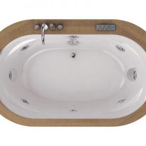 Фото товара Акриловая ванна Jacuzzi Opalia 190х110 wood 9F43-498A Тик.