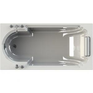 Фото товара Акриловая ванна Radomir Fra Grande Анабель 170х85 встраиваемая без гидромассажа Хром.