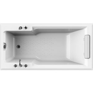 Фото товара Акриловая ванна Radomir Fra Grande Руссильон 180х90 встраиваемая без гидромассажа Хром.