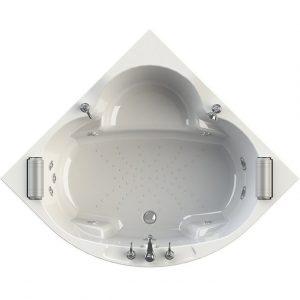 Фото товара Акриловая ванна Radomir Сорренто 3 130х130 с гидромассажем White.