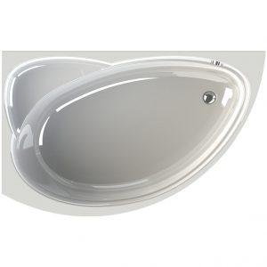 Фото товара Акриловая ванна Radomir Vannesa Модерна 160х100 L 2-01-0-1-1-214 Белая без гидромассажа.