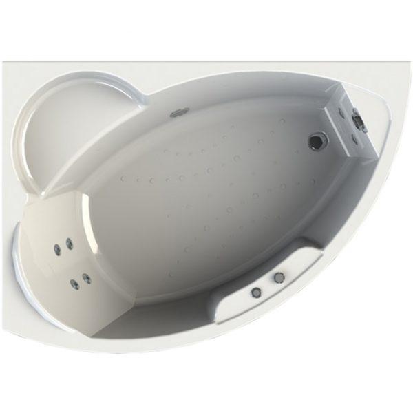 Фото товара Акриловая ванна Radomir Wachter Алари 168х120 форсунки Белые L с гидромассажем.