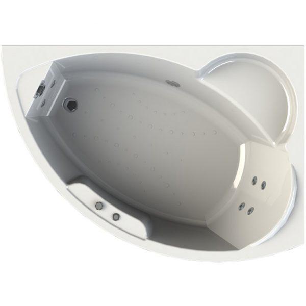Акриловая ванна Radomir Wachter Алари 168х120 форсунки Белые L с гидромассажем доступна к покупке по выгодной цене.