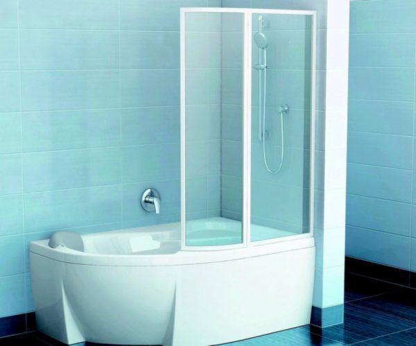 Акриловая ванна Ravak Rosa 95 150х95 L C551000000 Белая в интерьере.