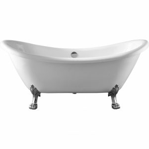 Фото товара Акриловая ванна Swedbe Vita 176х72 8818CH без гидромассажа ножки Хром.