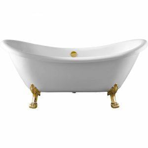 Фото товара Акриловая ванна Swedbe Vita 176х72 8818GO без гидромассажа ножки Золото.