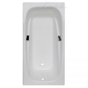Фото товара Чугунная ванна Castalia Emma 180х85 с ручками с антискользящим покрытием.