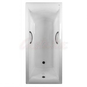 Фото товара Чугунная ванна Castalia Prime 170х75 с ручками с антискользящим покрытием.