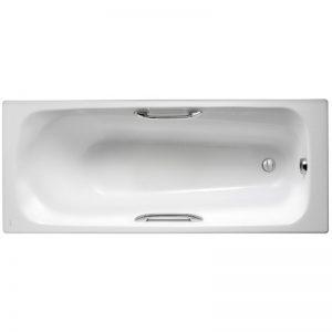 Фото товара Чугунная ванна Jacob Delafon Melanie 170х70 E2925-00 с антискользящим покрытием.