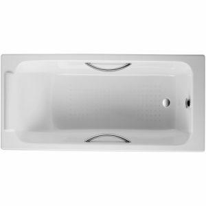Фото товара Чугунная ванна Jacob Delafon Parallel 170х70 с отверстиями под ручки E2948-00 с антискользящим покрытием.