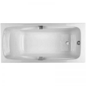 Фото товара Чугунная ванна Jacob Delafon Repos 170х80 E2915-00 с отверстиями для ручек.