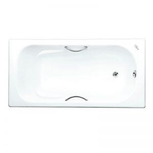 Фото товара Чугунная ванна Maroni Colombo 150х75 с ручками с антискользящим покрытием.