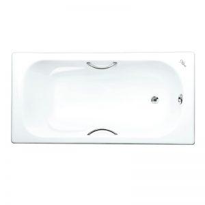 Фото товара Чугунная ванна Maroni Colombo 170х80 с ручками с антискользящим покрытием.