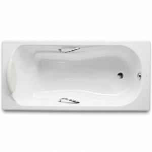 Фото товара Чугунная ванна Roca Haiti 150х80 2332G000R с антискользящим покрытием.