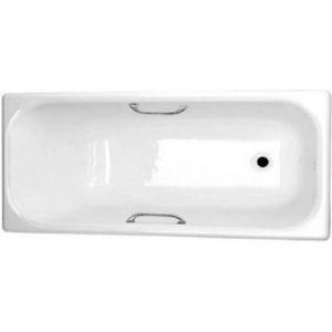 Фото товара Чугунная ванна Универсал Ностальжи 170х75 442831 с отверстиями для ручек без антискользящего покрытия.