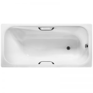 Фото товара Чугунная ванна Wotte Start 150х70 UR БП-э000001102 с отверстиями для ручек без антискользящего покрытия.