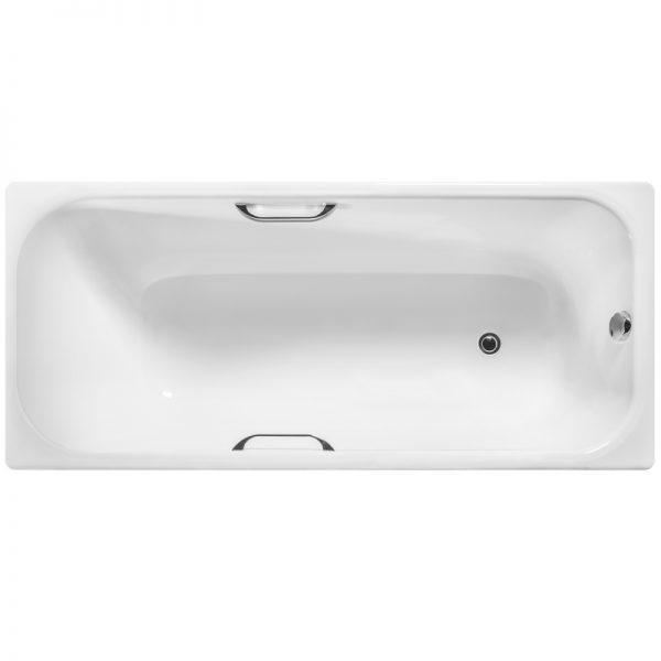 Фото товара Чугунная ванна Wotte Start 170х75 UR БП-э000001105 с отверстиями для ручек без антискользящего покрытия.