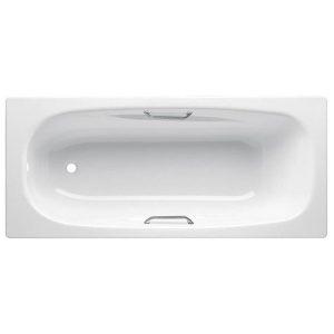 Фото товара Стальная ванна BLB Anatomica HG 170х75 B75L handles с отверстиями для ручек Белая.