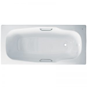 Фото товара Стальная ванна BLB Atlantica 180х80 B80A handles Белый.