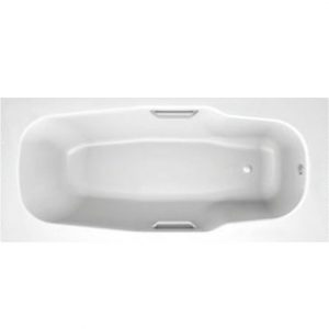 Фото товара Стальная ванна BLB Atlantica HG 170х80 B70J handles с ручками Белая.