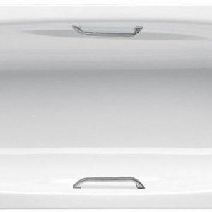 Фото товара Стальная ванна BLB Universal Anatomica 170х75 B75U handles N Белая без ручек.