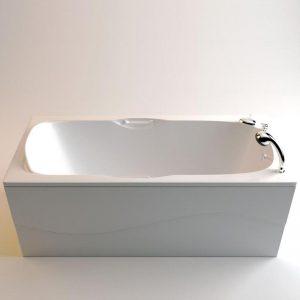 Фото товара Ванна из искусственного мрамора Фэма Стиль Алассио 160 Белая.